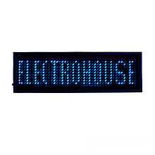 ElectroHouse Электронный Led бейдж, синий
