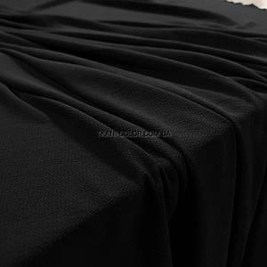 Тканина креп-шифон бабл чорний