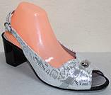 Босоножки большого размера на каблуке от производителя модель МИ5107-14Р, фото 2