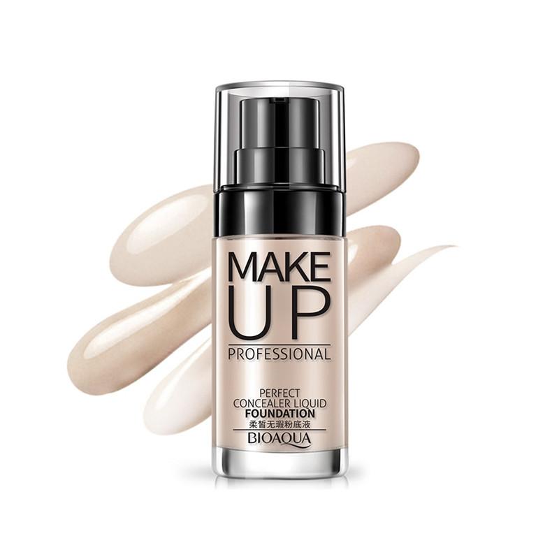 Тональный крем для лица BIOAQUA Make Up Professional 30ml Тон №2 Ivory White матирование кожи