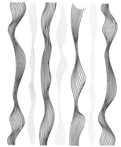 Гнучка хвиляста стрічка для нігтів ЧОРНИЙ&БІЛИЙ