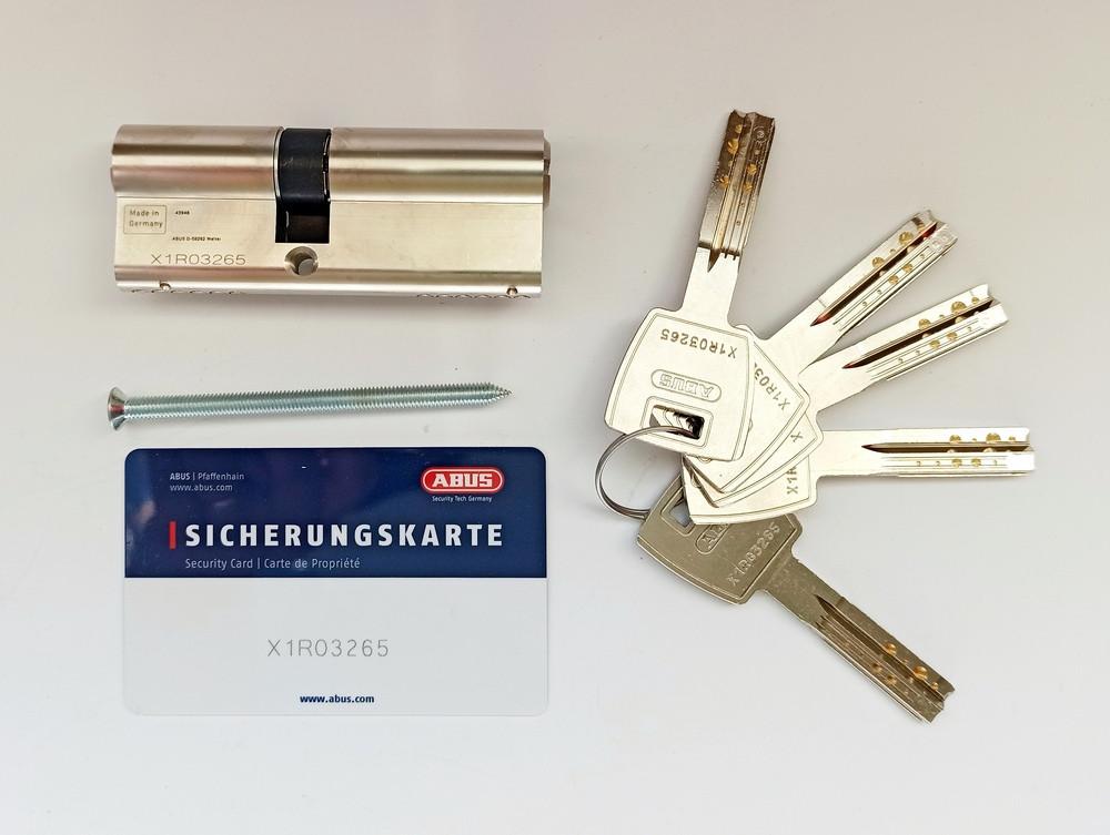 Цилиндр Abus M12R 60 мм (30х30) ключ/ключ 5 кл