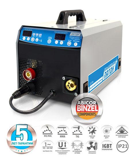 Напівавтомат зварювальний інверторний цифровий ПАТОН ПСІ-200S DC MMA/TIG/MIG/MAG (5-2)