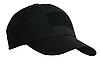 Тактическая кепка-бейсболка шестиклинка черный с патчем, фото 2