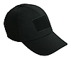 Тактическая кепка-бейсболка шестиклинка черный с патчем, фото 3