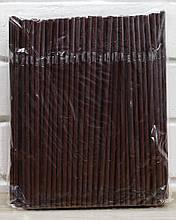 Трубочка для соку коричнева (ПП), d5, 21 см, 200 шт