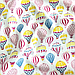 """Польская хлопковая ткань """"Воздушные шары разноцветные на белом"""", фото 2"""