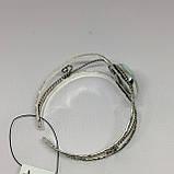 Ларимар браслет с ларимаром браслет-манжет с камнем ларимар (Доминикана) в серебре., фото 5