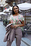 Женский брючный костюм тройка пиджак+блуза+брюки батал размер:48-50,52-54,56-58,60, фото 5