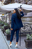 Женский брючный костюм тройка пиджак+блуза+брюки батал размер:48-50,52-54,56-58,60, фото 6