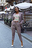 Женский брючный костюм тройка пиджак+блуза+брюки батал размер:48-50,52-54,56-58,60, фото 2
