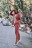 Женский брючный костюм тройка пиджак+блуза+брюки батал размер:48-50,52-54,56-58,60, фото 7