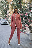 Женский брючный костюм тройка пиджак+блуза+брюки батал размер:48-50,52-54,56-58,60, фото 3