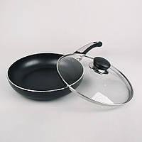 Сковорода антипригарная с крышкой Maestro 28 см (MR-1203-28)