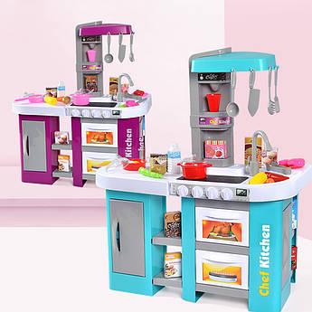 Детская интерактивная кухня Chef Kitchen синяя с посудой
