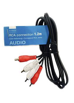 Кабель аудіо-сигнальний RCA Vivanco