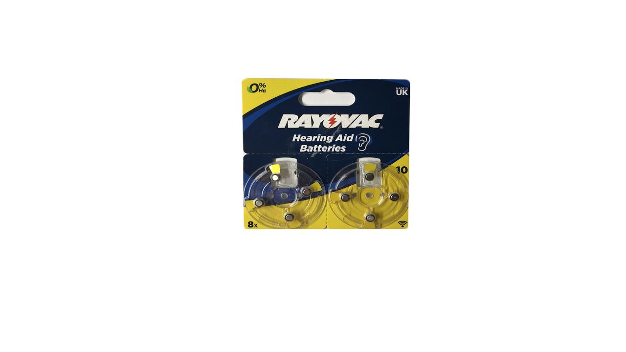 Батарейки для слухового аппарата Rayovac 8 шт.