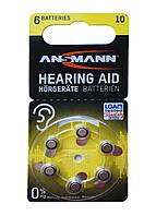 Батарейки для слухового аппарата Ansmann 6 шт.
