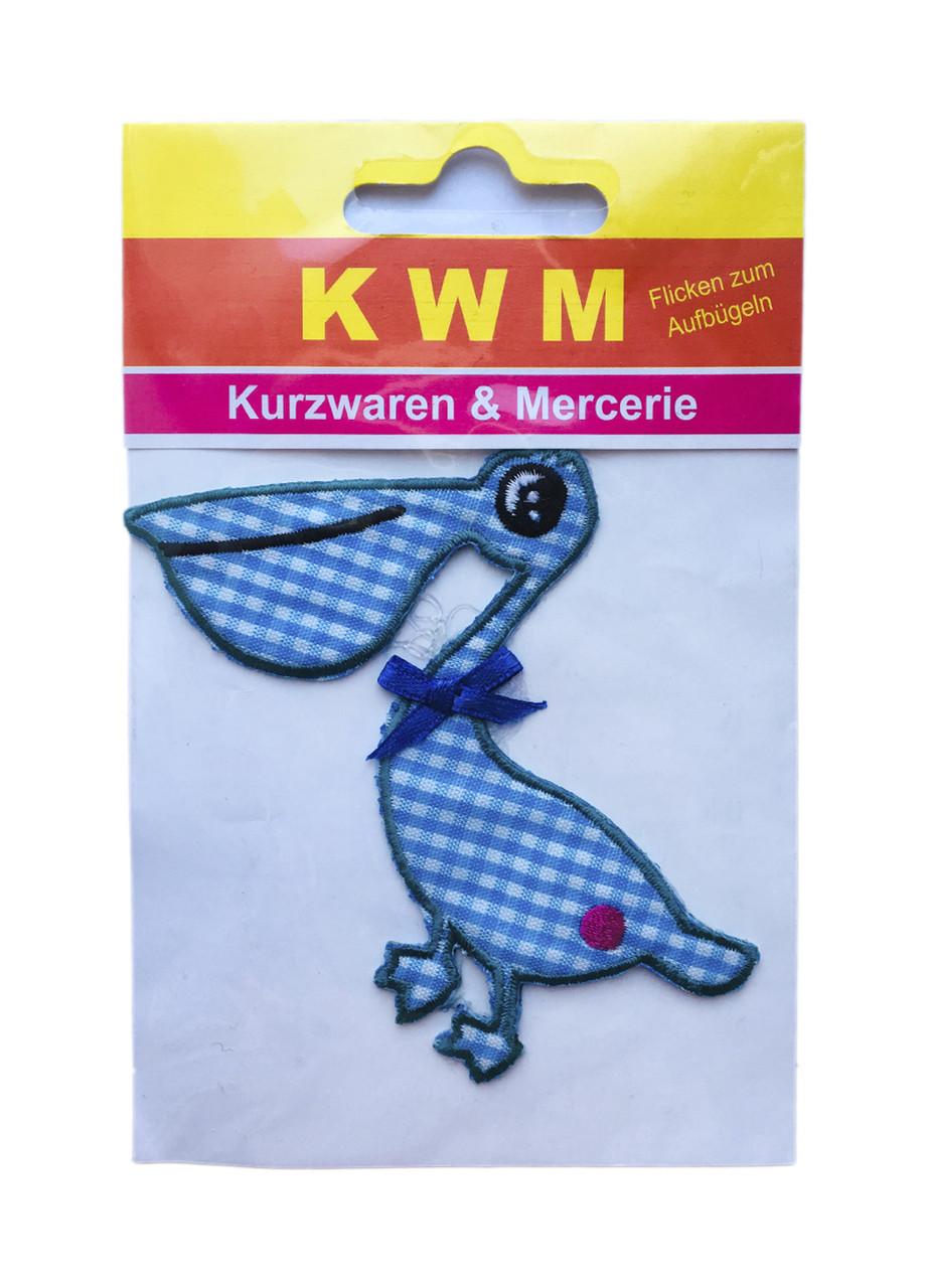 """Нашивка на одежду """"Фламинго"""" KWM"""
