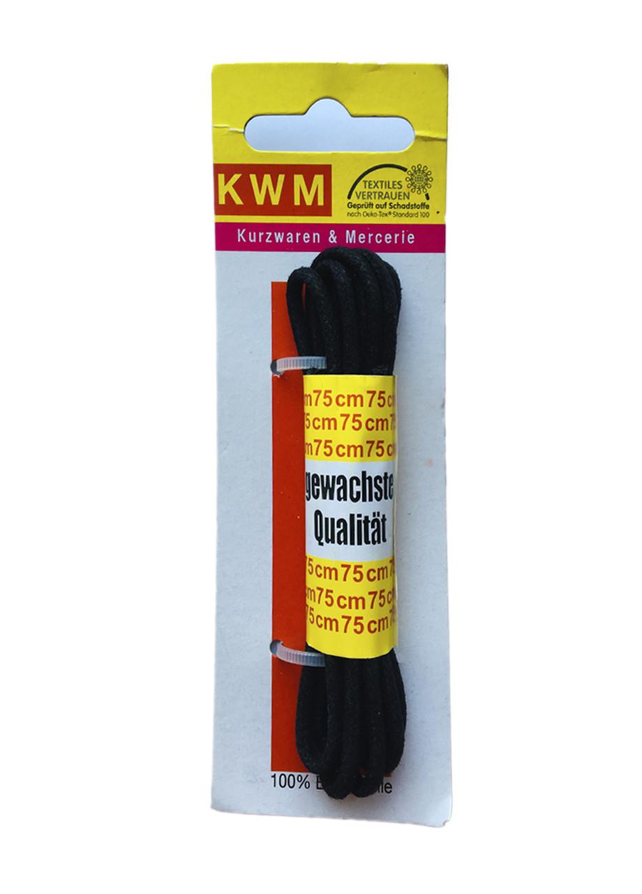 Шнурки черные KWM 75 см