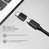 Blitzwolf BW-MT1 Type C Micro USB 1.5м кабель для быстрой зарядки данных 2 в 1 . Black ., фото 2