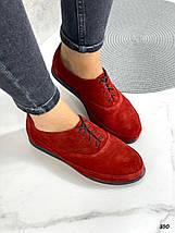 Женские красные замшевые туфли, фото 3