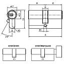 Цилиндр Abus M12R 60 мм (30х30) ключ/ключ 5 кл, фото 9