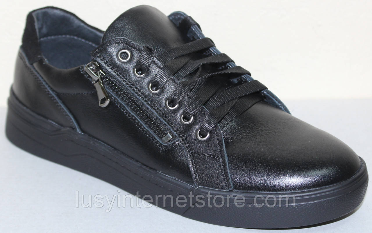 Туфли на шнурках мужские кожаные от производителя модель СЛТ07Н