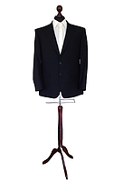 Манекен чоловічий для костюмів виробник Ailant розмір 50/52 чорний чохол на дерев'яній підставці