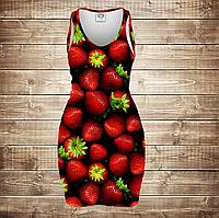 Платье-майка 3D-Клубника