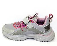 Детская спортивная обувь, кроссовки для девочки в сером цвете
