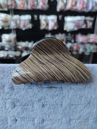 Заколка-Краб для волос французский пластик - 1115381915, фото 2