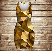 Платье-майка 3D-Золотой кубизм