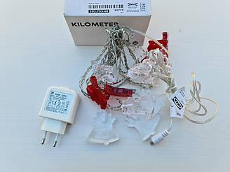 КИЛОМЕТР Гирлянда, 12 ламп, для помещений, 10275348, IKEA, ИКЕА, KILOMETR