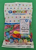 """Повітряні кульки асорті пастель 3"""" (8 см) бомбочки 100 шт (1 пач.)"""