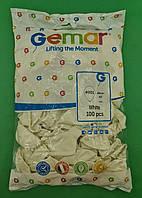 "Повітряні кулі пастель білий 10"" (25 см) Gemar 100 шт (1 пач.)"