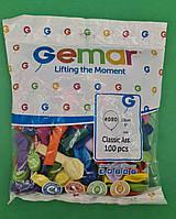 """Повітряні кульки асорті пастель 5"""" (13 см) 100 шт (1 пач.)"""