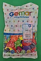 """Надувні кульки асорті пастель 10"""" (25 см) 100 шт (1 пач.)"""