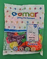 """Повітряні кульки асорті неон 7"""" (19 см) 100 шт (1 пач.)"""