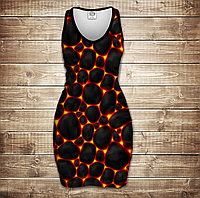 Платье-майка 3D-Магма