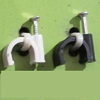Кліпса Lectris Ø5мм для круглого кабелю з цвяхом, 100шт