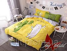 """Детский полуторный комплект постельного белья с компаньоном """"Кактус"""""""