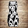 Плаття - майка 3D -  Світ панд