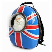 Космический рюкзак-иллюминатор переноска, пластик, 32х42х29 см, флаг