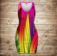 Платье-майка 3D-Rainbow color
