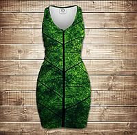 Платье-майка 3D-Листик