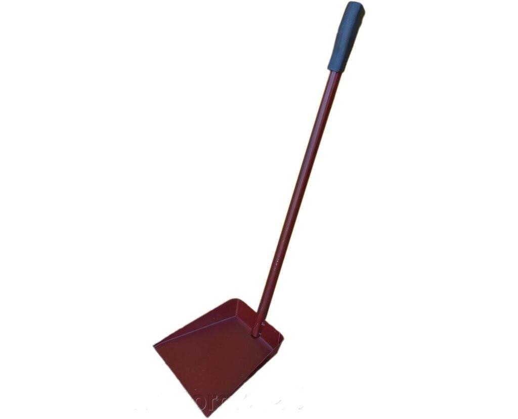 """Совок для мусора металлический прочный с длинной ручкой h=60 см """"ЧП ГК"""""""