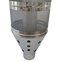 Труба-корзина (сетка) ø110 мм 1 мм 1 метр AISI 321 Stalar для камней дымохода сауны бани из нержавеющей стали, фото 3