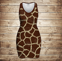 Платье-майка 3D -Жирафа