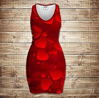 Платье-майка 3D -Love love